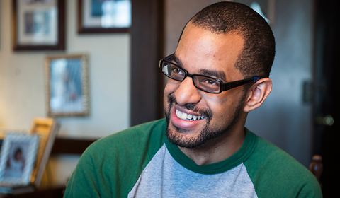 Astrophysics major Keith Hawkins, '13