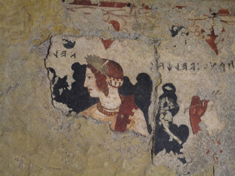 Painting from within the Tomb of Orcus.