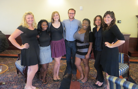 Students from the first cohort of the Law, Justice and Culture undergraduate certificate program.