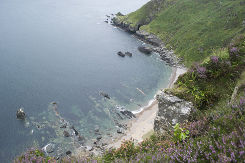 A view of the coast from one of the northernmost points of the island of Ireland, in the Inishowen peninsula.