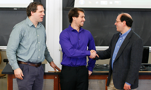 Senior Austin Way Wins Top Honors at Physics Undergrad Research Conference