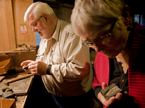 Ohio University Professor Emerita of Paleobotany Dr. Gene Mapes (right) and her husband, Royal Mapes.