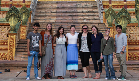 Ohio University students begin externships in Cambodia.
