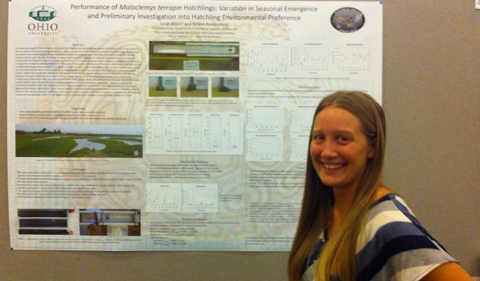 Kitson Presents on 'Performance of Malaclemys terrapin Hatchlings: Variation in Seasonal'