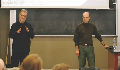 Distinguished Professor of Physics David Drabold introduces his former student Dr. Serge Nakhmanson