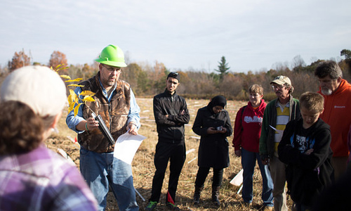 Faculty, Students Bring American Chestnut to Wayne National Forest