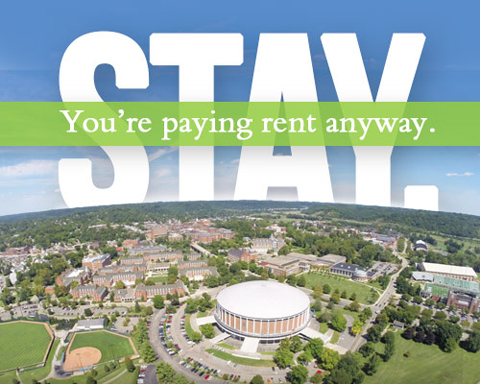 Stay: You're Paying Rent Anyway graphic