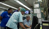 Lawrence Livermore National Laboratory researchers use the Edwards Accelerator Lab.