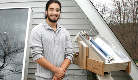 Zak Blumer and his evacuated tube solar collector