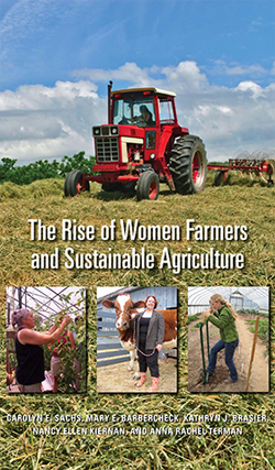 Rise of Women Farmers and Sustainable Agriculture book cover with tractor in field