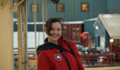 Amanda Biederman at Palmer Station in Antarctica