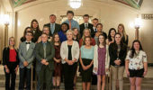 Chief Justice of the Ohio Supreme Court Maureen O'Connor with students of OHIO's Summer Law and Trial Institute