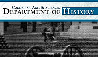 College of Arts & Sciences Department of History artwork with civil war cannon