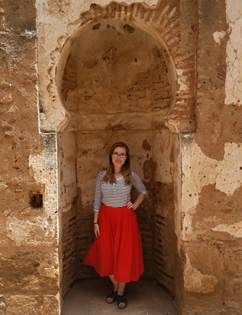 Ohio University senior Mica Smith poses for a photo while visiting Morocco this past summer for an intensive summer language study.