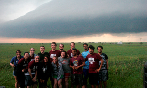 Dr. Jana Houser led 12 undergraduates and two graduates on a storm-chasing trek through the Central Plains.