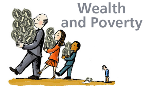 Wealth and Poverty theme logo