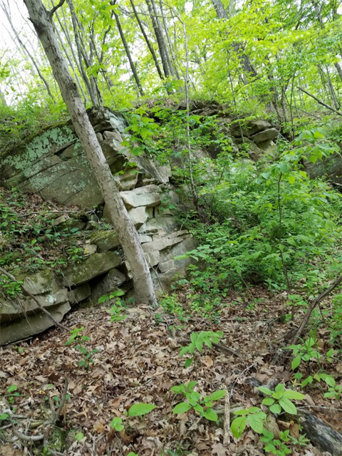 Rock outcropping at Wayne National Forest