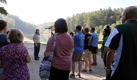 Twenty-two Ohio University students visited Shawnee of Perry County and Chesterhill of Morgan County on the Alternative Economies in Appalachia field trip on Sept. 23 with the Wealth and Poverty theme.