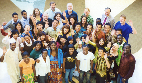 OPIE students from Indonesia and Africa in 2009