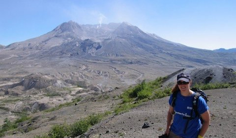 Dr. Patricia Nadeau at Mount St. Helens in Washington state