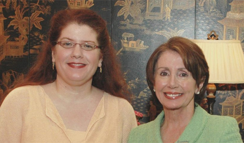 Lisa Maatz and Nancy Pelosi