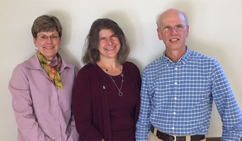 From left, Morgan Vis, Carolee Bull , and Phil Cantino, in group shot.