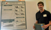 Dakota Brockway won first prize for his poster at Neuroscience Research Day.