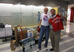 Rick Laylin and Gerry Krzic at photo installation.