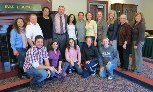 Alumni of Spanish and Latin American Studies programs at Spring Colloquium.