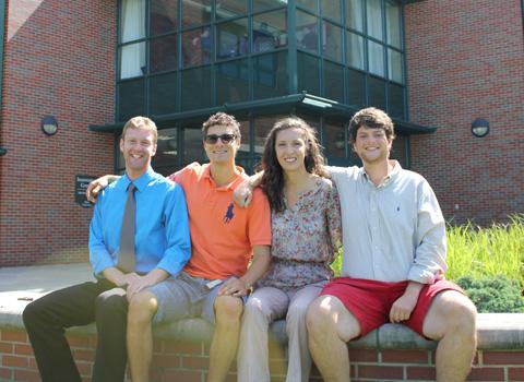 Alex Bill, Francis Weiner, Ben Weiner, and Ryan Cox (from left)