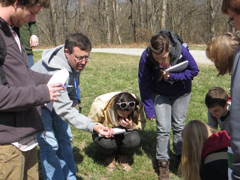 Harvey Ballard teaching Ohio Flora course.