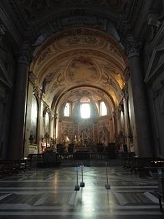 Interior of Santa Maria degli Angeli—the Baths of Diocletian's frigidarium in a previous life.