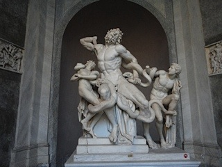 The Laocoon group — Vatican Museums.