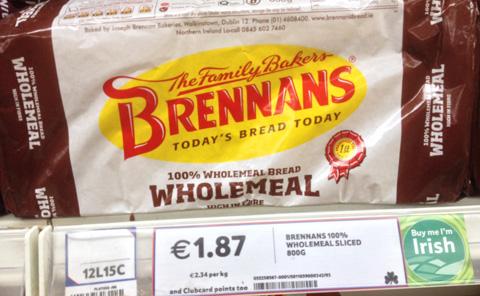 Ireland bread label