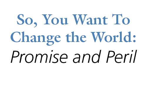So, You Want to Change the World: Promise and Peril