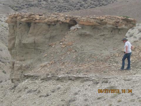 Audrey Blakeman fieldwork in Wyoming