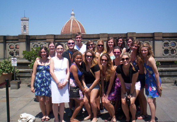 Dr. Morrison and students in Florence in 2012.
