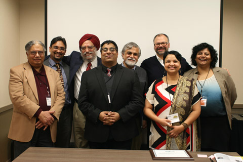 Dr. Amritjit Singh with leadership of the Southeast Asian Language Association.