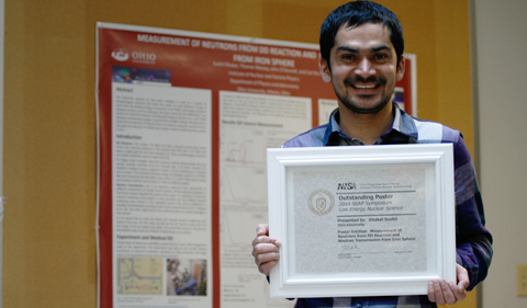 Graduate Student Wins Outstanding Poster in Low-Energy Nuclear Science