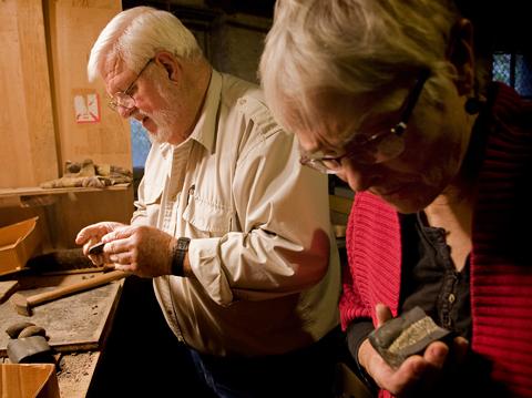 Ohio University Professor Emerita of Paleobotany Dr. Gene Mapes (right) and her husband, Royal Mapes.