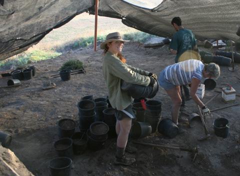 Megan Norris on dig at Tel Hazor in northern Israel.
