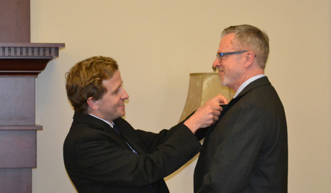 Toner Awarded 'Knight in the Order of Academic Palms' from France