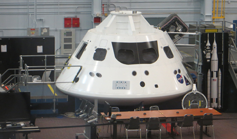 Astronauts are training in NASA's new Orion spacecraft at the Johnson Space Center in Houston, where Mission Control will oversee an unmanned test flight in a few months.