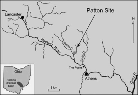 Location of the Patton Bog site in Athens County.