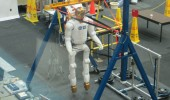 obonaut2 also is in training at the Johnson Space Center's astronaut training facility. Robonaut2 is a highly dexterous humanoid robot.