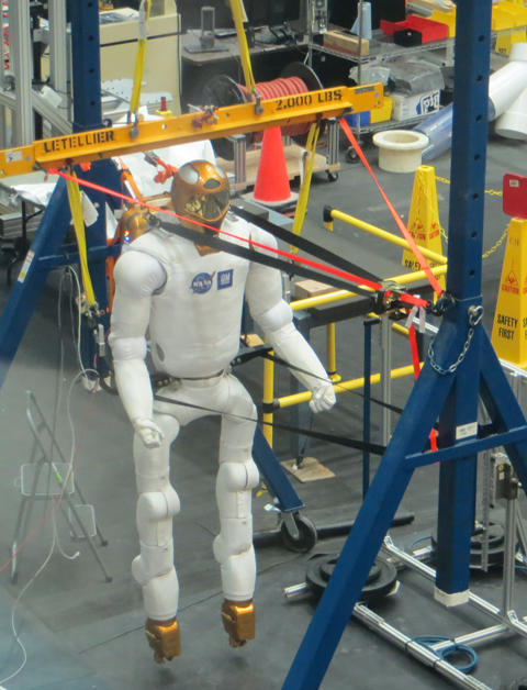 Robonaut2 also is in training at the Johnson Space Center's astronaut training facility. Robonaut2 is a highly dexterous humanoid robot.