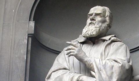 Statue of Galileo Galilei in Padua Italy