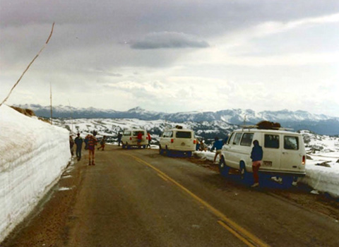 Circa 1984 photos from Damian Nance with OHIO students at Beartooth Pass.