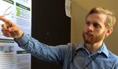Undergrad Zak Hall Presents on Identifying Gene Mutation that Enables Study of Plant Response to Gravity