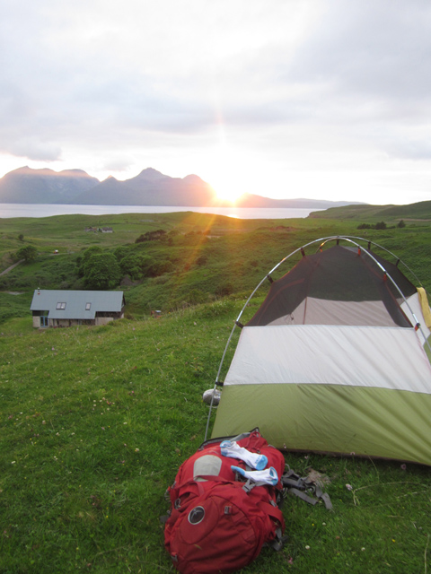 Campsite on the Isle of Eigg. Photo by Sara Sands